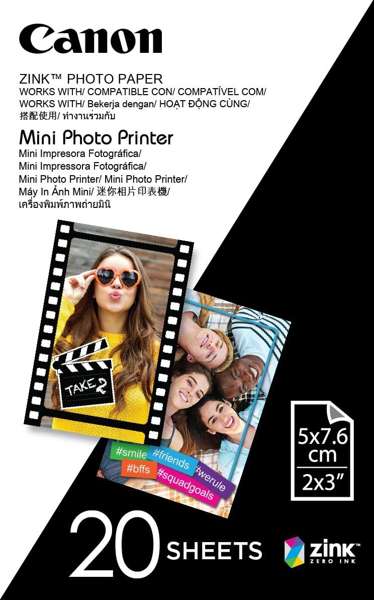 Zink Photo Paper for Mini Photo Printer - 20 Sheets image
