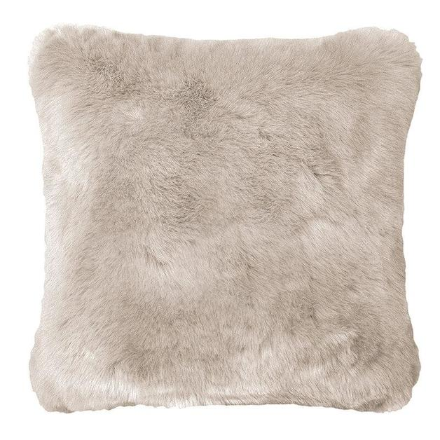 Bambury: Faux Fur Cushion - Pebble (50 x 50cm)