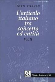 L'articolo Italiano Fra Concetto Ed Entita by Iorn Korzen image