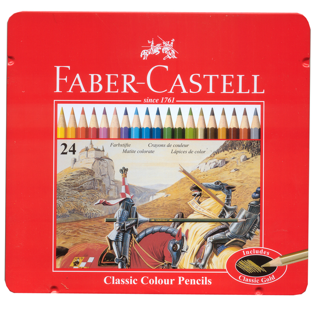 Faber-Castell: Classic Coloured (Tin of 24)