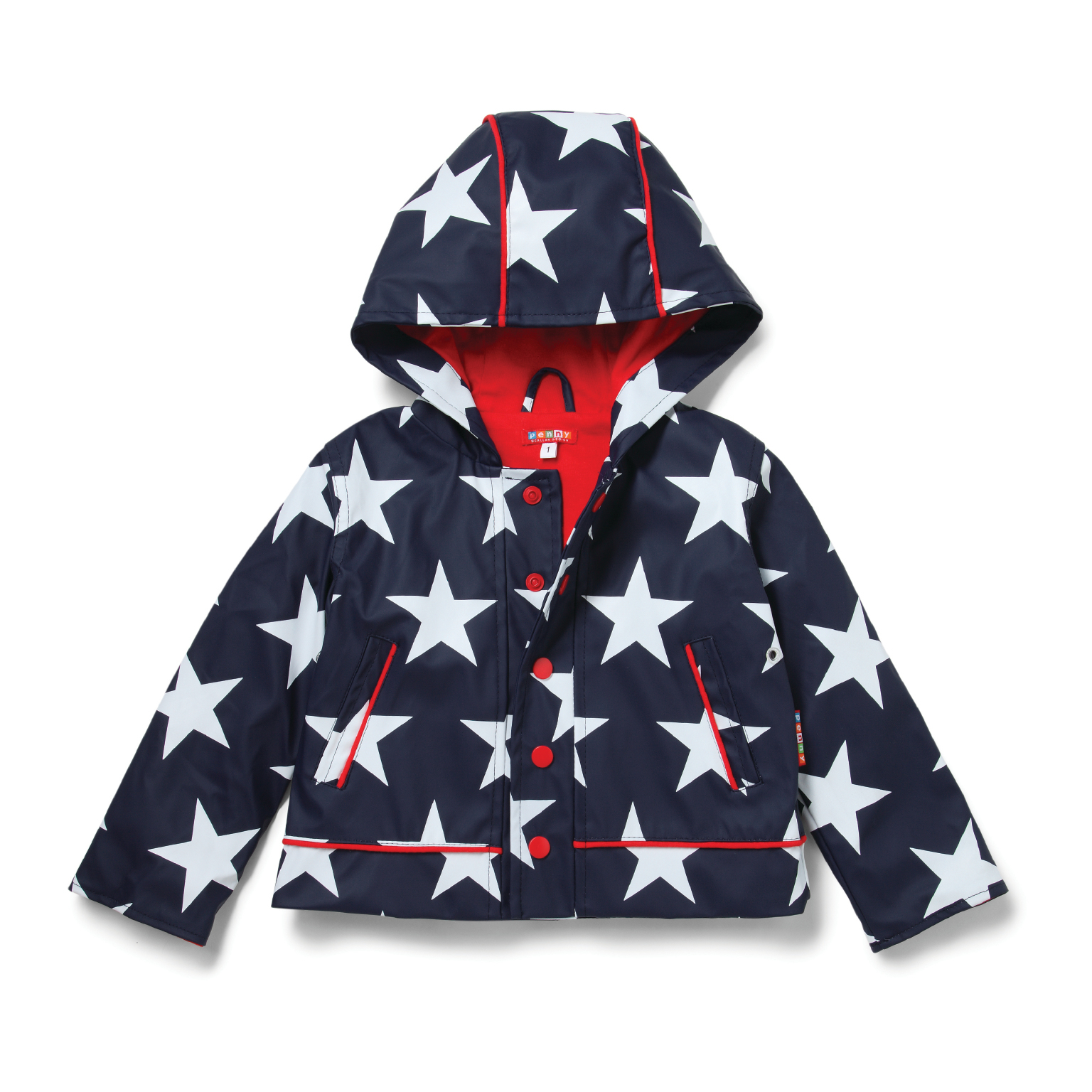 Raincoat Navy Star - Size 1-2 image