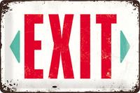 Nostalgic Art: Tin Sign - Exit