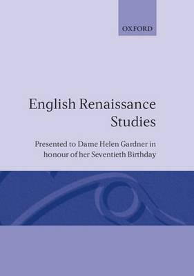 English Renaissance Studies by John Carey