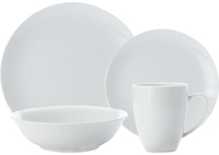 Casa Domani Casual White Coupe Dinner Set 16 Piece Gift Boxed
