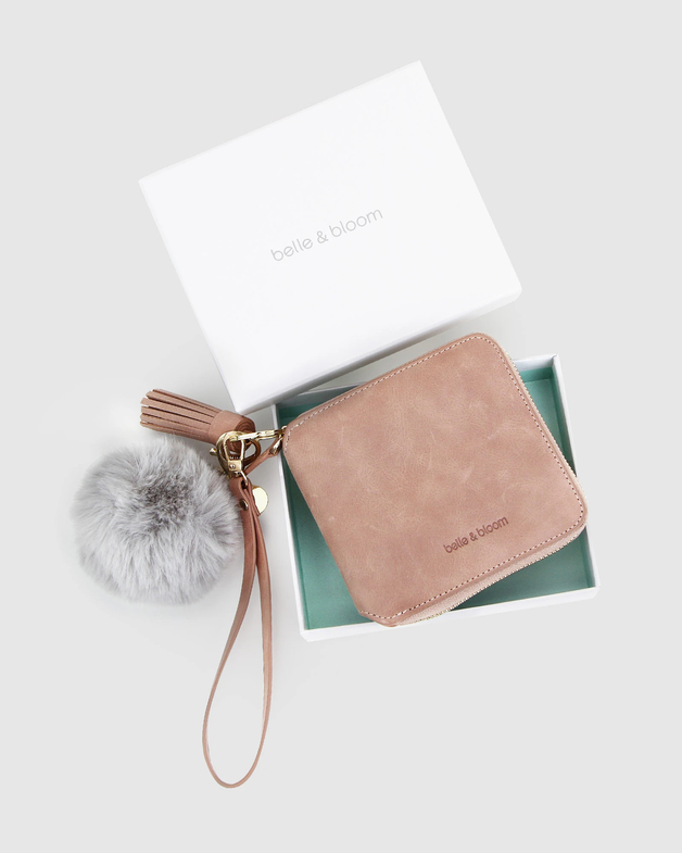 Belle and Bloom: Nora Gift Pack + Fur Keychain - Dusty Rose/Grey
