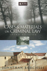 Cases and Materials on Criminal Law by J.M. Burchell image