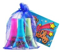 Bo-Po Scented Peel-Off Nail Colour: Birthday Pack - Blue Bag (3 Polish) image