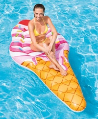 "Intex: Ice Cream - Inflatable Lounger (88"" x 42"")"