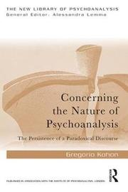 Concerning the Nature of Psychoanalysis by Gregorio Kohon