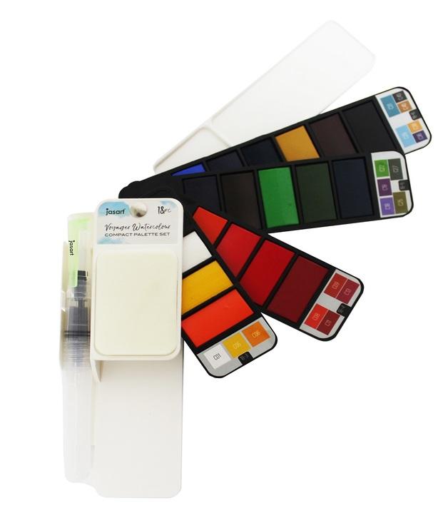 Jasart Voyager: Watercolour Flip Set of 18