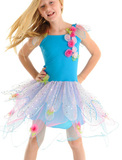 Fairy Girls - Crystal Fairy Dress in Turquoise (Large, age 6-8)