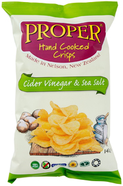 Proper Crisps - Cider Vinegar And Sea Salt 140g