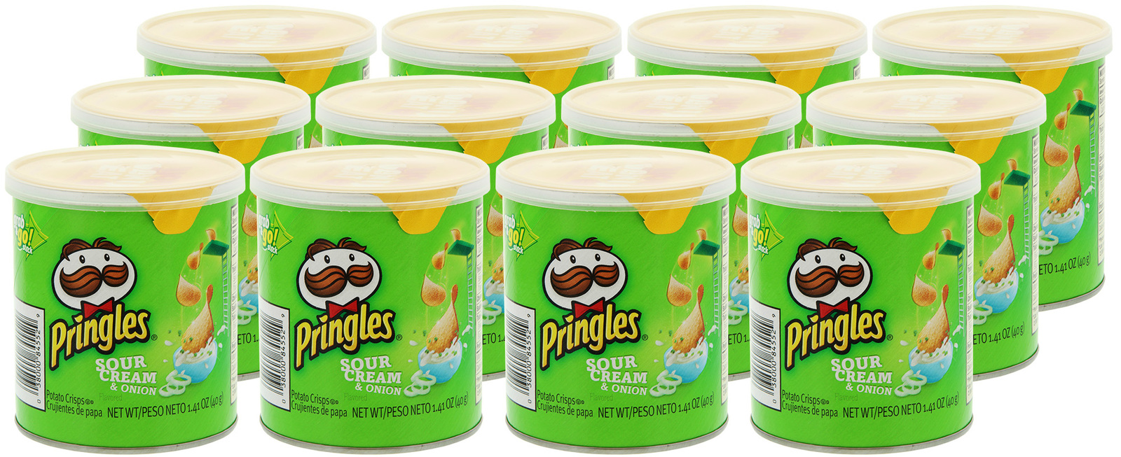 Pringles Grab & Go Small SC & Onion 40g (12 Pack) image