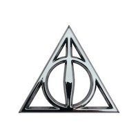 Harry Potter Deathly Hallows 3D Chrome Emblem