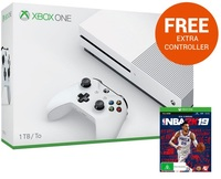 Xbox One S 1TB NBA 2K19 Console Bundle for Xbox One