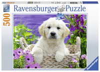 Ravensburger: 500 Piece Puzzle - Sweet Golden Retriever