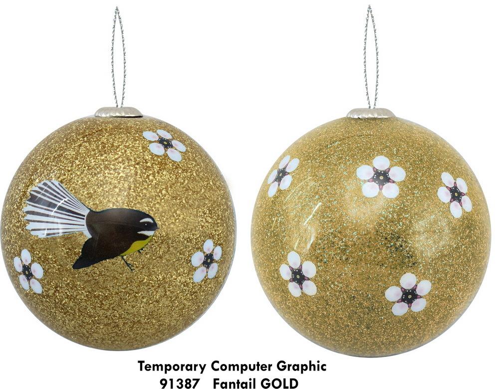 Antics: Christmas Decoration - Fantail Gold image