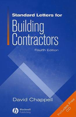 Standard Letters for Building Contractors by David Chappell image
