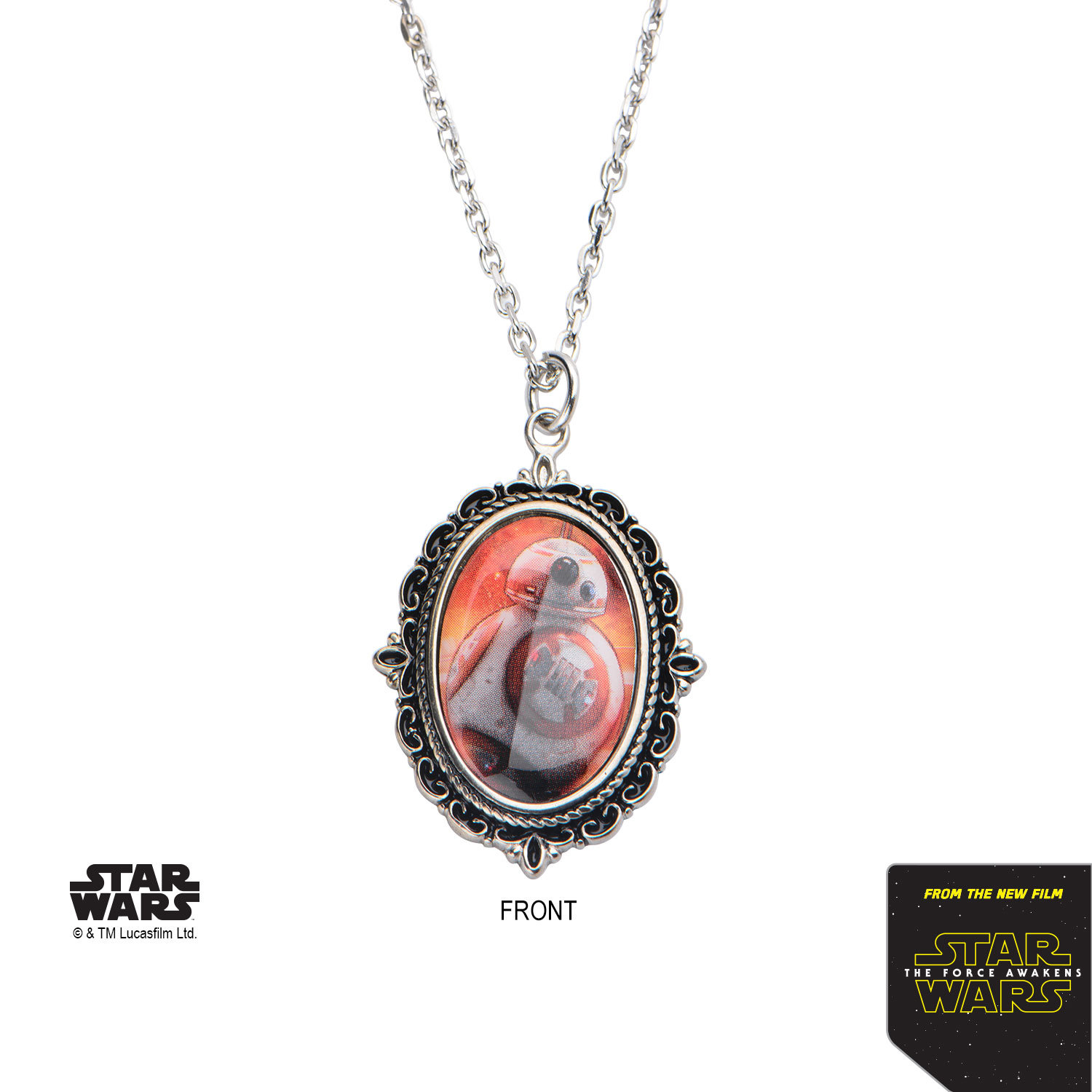 Star Wars Stainless Steel BB8 Cameo Pendant image