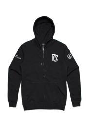 Mr Vintage BC Unisex Black Zip Hoodie (2XL)