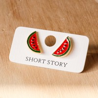 Short Story: Funky Play Earrings - Watermelon