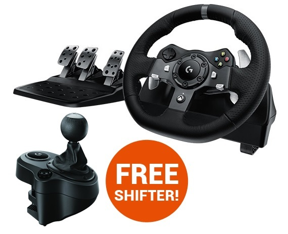 Logitech G920 Feedback Racing Wheel (Xbox One & PC) for Xbox One
