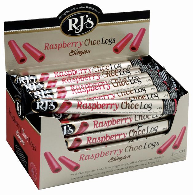 RJ's Raspberry Choc Single Logs 30pk