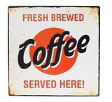 Vintage Coffe Iron Sign (30.5 x 30.5cm)