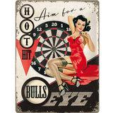 Retro Metal Pin Up Sign - Bullseye