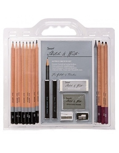 Jasart Sketch & Write 18 Piece Sketch Set