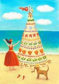 Annie Hayward A Christmas Sand Tree Christmas Card