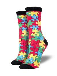 Womens - Puzzled Crew Socks