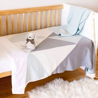 Ecosprout: Reversible Cotton Cot/Single Blanket - Teepee Sky Gray image
