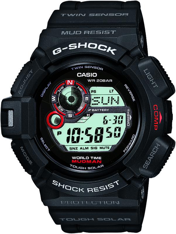 Casio G-Shock MUDMAN Digital Mens Black Watch G-9300-1
