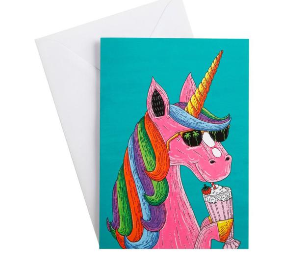 Mulga the Artist Greeting Card (Unicorn)