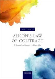 Anson's Law of Contract by Jack Beatson