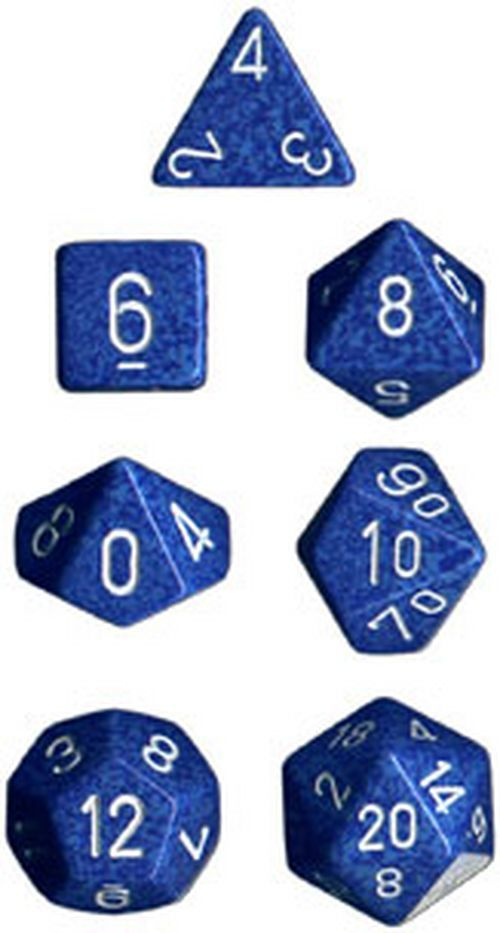 Chessex Speckled Polyhedral Dice Set - Water image