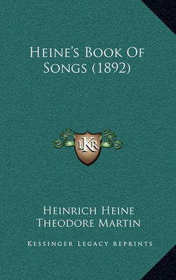 Heine's Book of Songs (1892) by Heinrich Heine image
