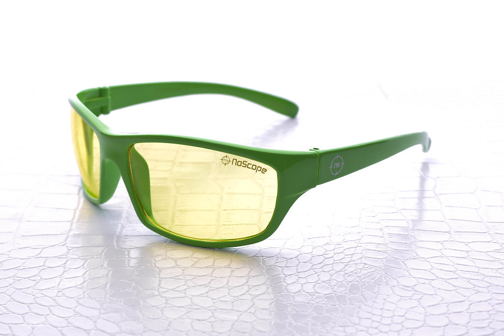 NoScope Minotaur Computer Gaming Glasses - Wasabi Green for PC Games image