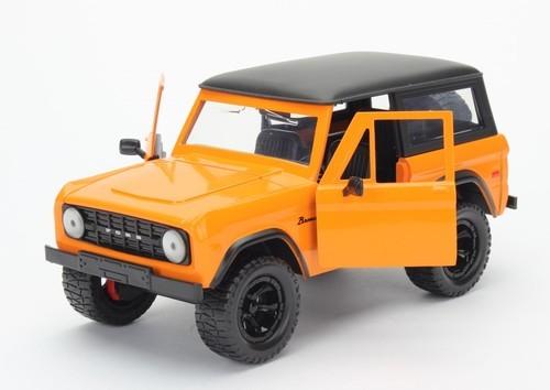 Jada: 1/24 1973 Ford Bronco Diecast Model (Orange)