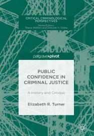 Public Confidence in Criminal Justice by Elizabeth R. Turner image