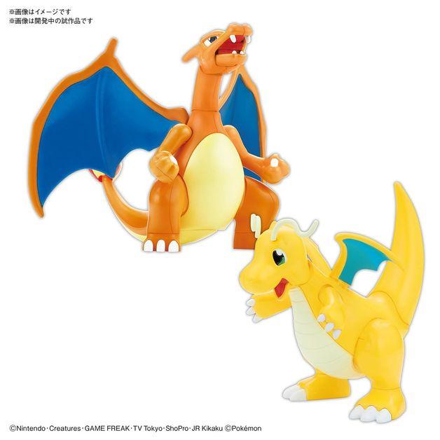 Pokemon Plamo: Charizard & Dragonite VS Set - Model Kit