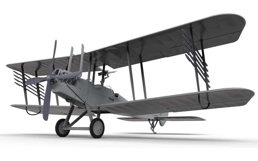 Airfix 1:72 RAF BE2c (Night Fighter) - Model Kit image