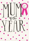 Mum Of The Year Card