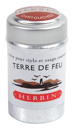J Herbin: Tin of 6 Universal Cartridges - Terre de Feu