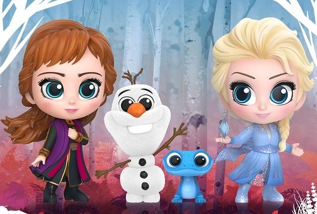 Frozen II - Elsa, Anna, Olaf & Salamander Cosbaby Set