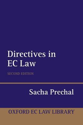 Directives in EC Law by Sacha Prechal image