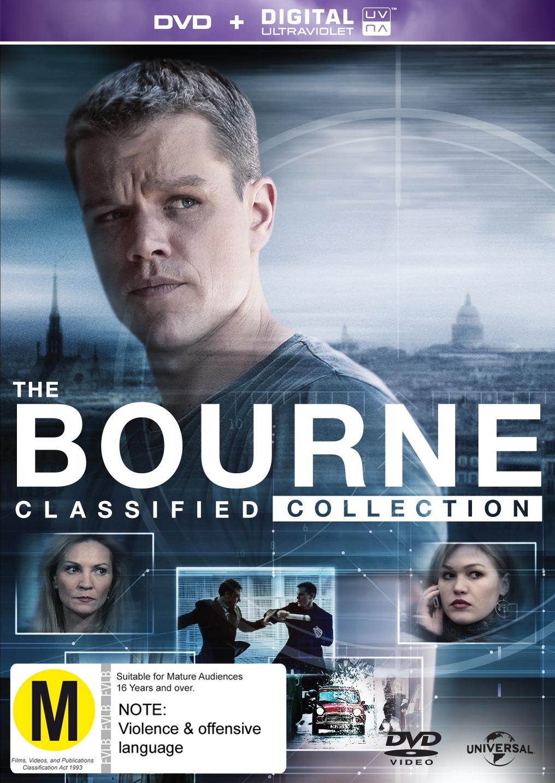The Bourne Quadrilogy on DVD, UV image