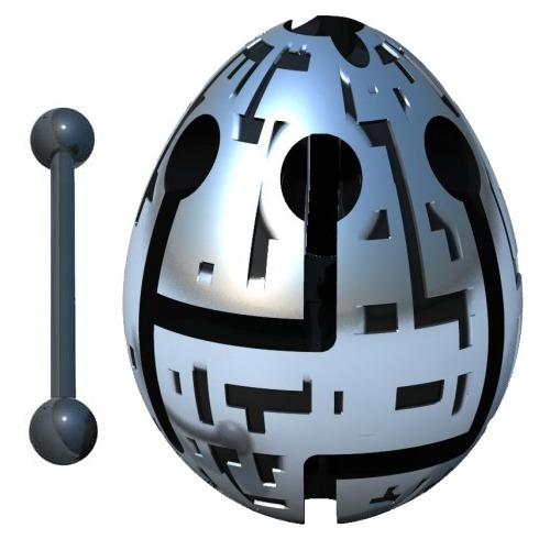 Smart Egg: 1-Layer Labyrinth Game - Techno