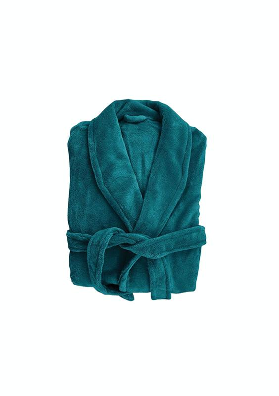 Bambury: Retreat Microplush Robe - Teal M/L